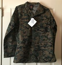 USMC New w/tags Woodland Digital Camo Military Tactical BDU Blouse Size Med R