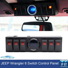 6 Switch Control Panel System With LED Digital Voltage Meter For 07-16 Jeep JK