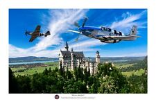 "WWII USAAF 8th Air Force P-51 Mustang Ace Aviation Art Photo Print - 12"" X 18"""