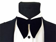 Mens FERUCCI Oversized Bow Tie - Black Velvet Bowtie, Mens big bow tie