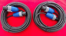 2 x 6mtr Genuine Neutrik (NL2FX) Speakon to Speakon Pro Speaker Leads