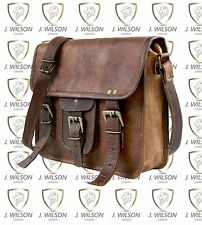 Leather Satchel Handmade Designer J Wilson Bag Vintage Flap over Messenger Retro