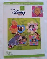 LA Disney Home Cross Stitch Book; Pooh Fun-Time Magnets 16 designs 2002