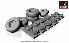 Armory Models 1/48 LOCKHEED C-130H HERCULES WHEEL SET Resin Set