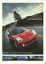 2002 sports car AD TOYOTA MR2 Spyder red convertible great photo! auto 020717