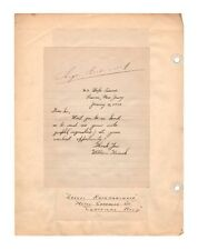 Sergei Rachmaninoff Composer Autograph Album Page - Wide Signature - Authentic!
