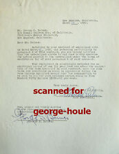 GEORGE S. BARNES - DOCUMENT - SIGNED - 1930 - REBECCA - ALFRED HITCHCOCK - AA