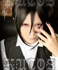 BLACK BUTLER Sebastian Michaelis Short Anime Cosplay Costume Wig +CAP