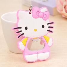 New Pink Hello Kitty Bottle Opener Key Ring Chain Keyring Keychain Beer Bar Tool