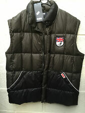Puffa Downfilled Waistcoat XL Black/Grey Union Jack