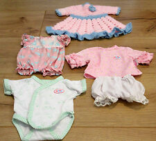 baby Born clothes Girls Dolls  Bundle outfits romper dress CLEAN USED ONCE