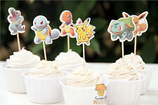 Themed Cupcake Decoration Toppers ONLY Cake Decorating x 12 POKEMON