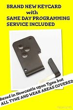 RENAULT KEY CARD MEGANE SCENIC   CLIO remote locking fob Programmed to car