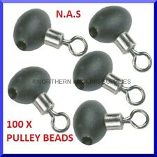 100 PULLEY RIG BEADS FOR SEA FISHING SPINNING BEACHCASTER BOAT ROD RIGS LURES