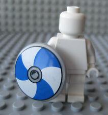 Custom VIKING Shield for Lego Minifigures -Blue/White Design Castle Medieval