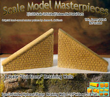 "Z Scale ""Cut Stone"" Retaining Wall Set Scale Model Masterpieces *NEW PRODUCT!*"
