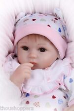Real Life Looking 42cm Vinyl Silicone Reborn Handmade Baby Girl Doll #46