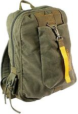 OD GREE Vintage Military Canvas Flight Bag School Book bag Daypack Backpack 9764
