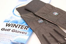 1 PAIR JAXX BLACK ALL WEATHER WINTER WIND PROTECTOR GOLF GLOVES MENS S LADIES L