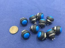 10x Blue MOMENTARY N/O normally open PUSH BUTTON SWITCH DC (on) off TK0304 A7