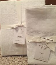 Pottery Barn King size Belgian Flax Linen duvet cover & set of 2 king pillowcase