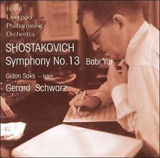 """Shostakovich # Symphony No. 13 """"Babi Yar"""" RLPO Schwartz (Avie) CD"""