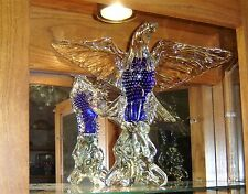 AWESOME LARGE   GLASS  American Eagle 13.5 in. tall,with 16in. wing span, 8 lbs.