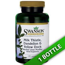 Milk Thistle, Dandelion & Yellow Dock 120 Caps by Swanson Premium