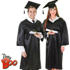 NERO LAUREA + CAPPELLO ROBE Adulto Costume School Uniform Uomo Donna Costume