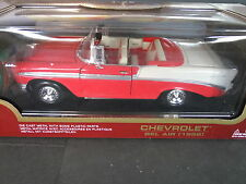 Road Legends 1956 Chevrolet Bel Air Convertible - 1/18 Scale Red & White