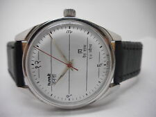 vintage hmt janata hindi hand winding men's steel india made rare watch run .