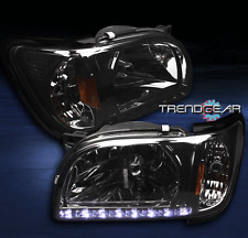 2001-2004 TOYOTA TACOMA PICKUP DRL LED CRYSTAL 2IN1 HEAD LIGHT+CORNER PAIR SMOKE