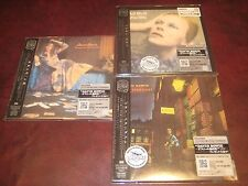 DAVID BOWIE 3 JAPAN REPLICA'S OBI CD SET ZIGGY HUNKY+ WHO SOLD ONE TIME SPECIAL