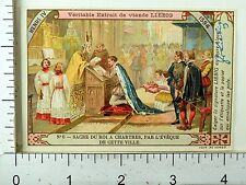 1880's British Kings Queens Lovely Scenes Liebig Victorian 12 Trade Card Set K77