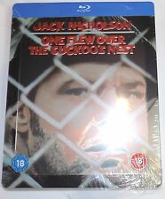 ONE FLEW OVER THE CUCKOO'S NEST Mostly Sealed Blu-Ray STEELBOOK Jack Nicholson 1