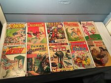 8 Old Comic Books 1954 - 1970's Sgt Rock Kid Colt Conan Blondie Pink Panther +++