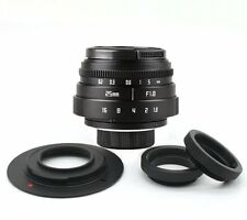 Mini Fujian 25mm f/1.8 CCTV lens II for M4/3 / MFT Mount Camera & Adapter bundle
