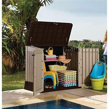 Garden Storage Shed Poolside Outdoor Patio Backyard Keter Utility Garage Living