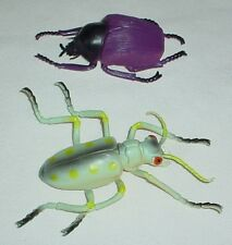 2 Large Toy Insects Bugs Beetles Creepy Crawlers Plastic Science Garden Nature