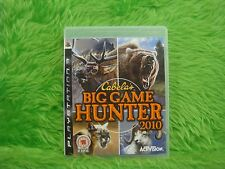 ps3 CABELAS BIG GAME HUNTER 2010 Cabelas Hunting Game Playstation PAL