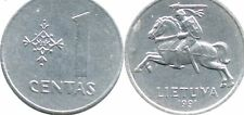 Lithuania 1 Centas Coins 1991 One Centas Europe