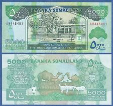 Somaliland 5000 Shillings P 21 New 2012 UNC CV$ 60! Low Shipping! Combine FREE!