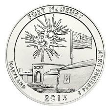 2013 5 Oz Silver America The Beautiful Fort McHenry 25C ATB Coin SKU29363