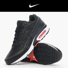 Men's Nike Air Max BW Premium - 819523 006 - Black Crimson Grey Sneakers Size 9