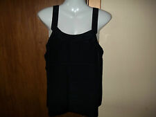 womans black strappy top from jean claire size eu38 uk 10/12? new with tags