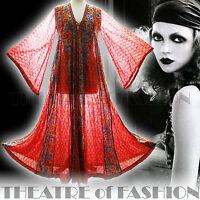 VINTAGE INDIAN DRESS ANOKHI 70s S M L XL GAUZE KAFTAN 60s HIPPY BOHO WEDDING