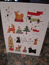 Dachshund Holiday Cards Collectible Box - Weiner Dog in Sweater Ribbon Flag NEW
