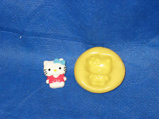 Hello Kitty w Vest Push Mold Flexible Resin Clay Candy Food Safe Silicone  #26