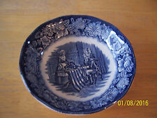 "VINTAGE STAFFORDSHIRE IRONSTONE LIBERTY BLUE 5"" BERRY BOWL BETSY ROSS"