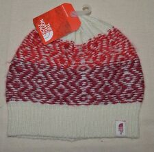 The North Face Women Tribe N True Beanie Men One Size Vintage White biking red